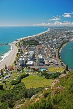 Mount Maunganui, Bay Of Plenty, New Zealand I had this exact view just about a week ago :'(