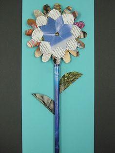 Interesting site to teach kids art, some handy ideas. Recycled Magazine Flowers | TeachKidsArt