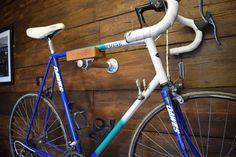 Oak and Steel Minimalist Bicycle Bike Wall   Etsy Bicycle Wall Hanger, Bicycle Wall Mount, Bike Rack, Dark Hardwood, Oak Stain, Steel Wall, Galvanized Steel, Solid Oak, Minimalist