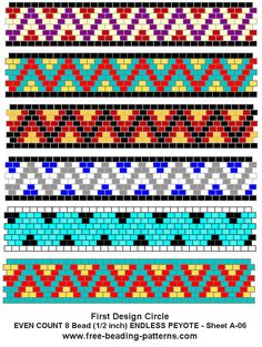 free peyote patterns - Buscar con Google