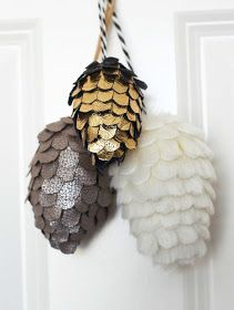 DIY Fabric Pinecones