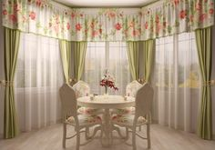 Curtains can enhance the look of a room or they can destroy it. Therefore, it is important that you take utmost care, when you choose your bay window curtains as well as curtains for the other windows in the house. Bow Window Treatments, Window Coverings, Sheer Curtain Panels, Panel Curtains, Wide Curtains, Valance, Rideaux Du Bow Window, Extra Long Curtains, Minimalist Window