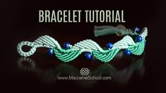 Berry Leaf Bracelet Tutorial by Macrame School