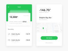 Credit card repayments new attempt Ios Design, Mobile Ui Design, Layout Design, Card Ui, Credit Card Design, Application Design, Ui Inspiration, User Interface Design, Card Patterns