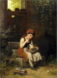 """The Honey Eater"" ... by Johann Georg Meyer von Bremen (1813 – 1886, German)"