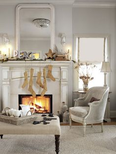 neutral and simple holiday decorations