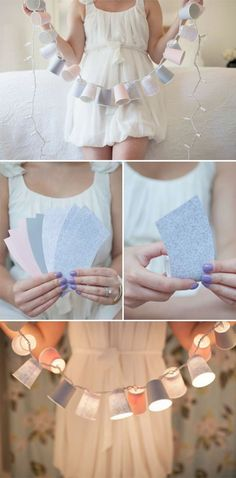 Paper cup light garland