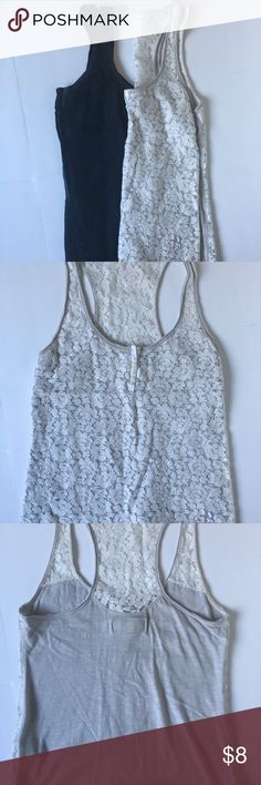 Bundle of 2 tank tops GUC bundle of 2 cotton and lace tank tops. J. Crew Tops Tank Tops