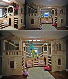 Unique bunk beds for girls girl bunk bed ideas cool bunk bed ideas for kids 7 . unique bunk beds for girls cute bunk bed ideas amazing Unique Bunk Beds, Cool Bunk Beds, Cool Kids Beds, Best Bunk Beds, Cool Rooms For Kids, Bed Ideas For Kids, Bunk Bed Fort, Kids Bedroom Ideas For Girls, Coolest Beds