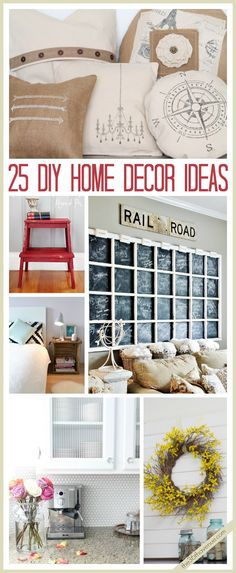 25 DIY Home Decor Ideas... Ready for Spring? So much inspiration! #home #decor #diy