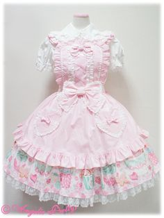 Angelic Pretty Harajuku Fashion, Kawaii Fashion, Lolita Fashion, Cute Fashion, Asian Fashion, Girl Fashion, Emo Fashion, Gothic Fashion, Frilly Dresses