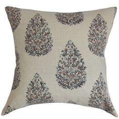 The Pillow Collection Faeyza Floral Bedding Sham Size: King, Color: Indigo