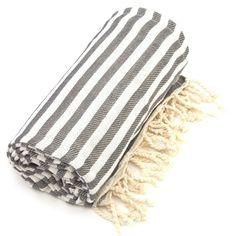 Pestemal Fouta Graphite Grey Turkish Cotton Bath/ Beach Towel $35