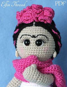 Elfin Thread- Frida Kahlo Amigurumi Doll PDF Pattern (Crochet Frida Kahlo Doll) by ElfinThread on Etsy https://www.etsy.com/listing/254597358/elfin-thread-frida-kahlo-amigurumi-doll