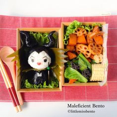 Maleficuent bento by Little Miss Bento  シャリーのかわいいキャラベン