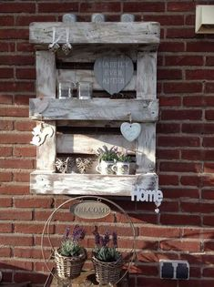 Pallet wand decoratie