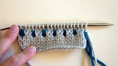 Knitting Techniques: Slip Stitch Colorwork Part I