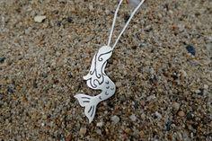 Collar Sirena / Collar plata sirena / Colgante plata / Colgante sirena / Collar sirenita / Collar plata / Collar silueta / Sirena plata de SplashJewel en Etsy