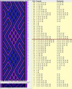 28 tarjetas, 3 colores, repite cada 28 movimientos // sed_701 diseñado en GTT༺❁