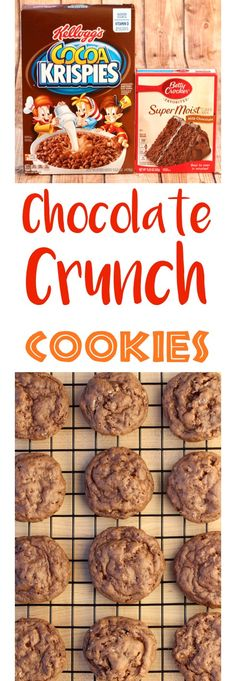 Chocolate Cake Mix Cookies Recipe!   So Easy! Just 4 ingredients and you've got the perfect Chocolate Crunch Cookie!  Kid approved and SO delicious!