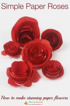 how to make simple paper roses (scheduled via http://www.tailwindapp.com?utm_source=pinterest&utm_medium=twpin&utm_content=post1445765&utm_campaign=scheduler_attribution)