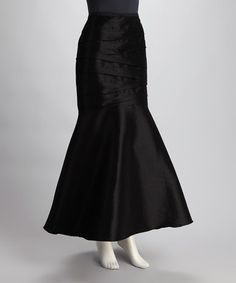 Take a look at this Black Tafetta Skirt by Blow-Out on #zulily today!