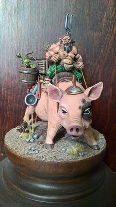 Warhammer Age of Sigmar | Conversion Funny | Ogres Mournfang http://wellofeternitypl.blogspot.com #warhammer #ageofsigmar #aos #sigmar #wh #whfb #gw #gamesworkshop #wellofeternity #miniatures #wargaming #hobby #fantasy