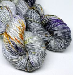 Hand Dyed Speckled Sock Yarn - SW Sock 80/20 - Superwash Merino Nylon - 400 yards - Oracle