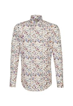 Jacques Britt Hemd 'Custom Fit' in mischfarben Fit S, Slim Fit, Bunt, Colorful Shirts, Shirt Dress, Mens Tops, Button Shirts, Dresses, Products