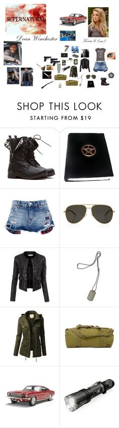 """meeting dean for the fist time at a diner"" by zoe-sears ❤ liked on Polyvore featuring Pull&Bear, Yves Saint Laurent, Doublju, Dsquared2, J.TOMSON, Avon, RIFLE and All Black"