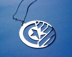 18c7b7d3 STUCKY Captain America Winter Soldier inspired necklace - 4 colors  available Captain America Winter, Captain