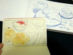 2015_01_29_scone_01  スコーン 食べる前と食べた後。  for this drawing I used : Faber castell polychromos Holbein Moleskine sketchbook  © Belta(Mayumi Wakabayashi)
