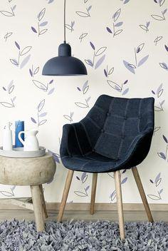 Blue Wallpaper / Blauw behang collectie Twist - BN Wallcoverings