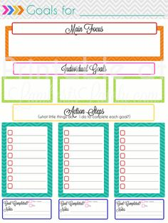 Planning Notebook Add-On: Monthly Goal Setting This site has so many printable planner pages! This is a goal setting page, and she has links to calendars too. Available for free!Setting Setting may refer to: Goals Planner, Life Planner, Happy Planner, Planner Ideas, Budget Planner, Goals Printable, Printable Planner Pages, Planner Stickers, Free Printables