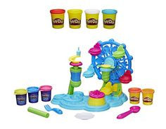 Bundle of 2 items: Play-Doh Cupcake Celebration Playset and Play-Doh 4-Pack of Colors 20oz (5 Oz Each). Get the whirly twirly fun started! Give your Play-Doh bakery creations a sweet ride on the craz...