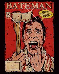 American Psycho, Horror Art, A Comics, Artwork, Devil, Green, Products, White Tee Shirts, Making T Shirts