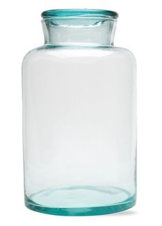 """Recycled Green Glass Canister, Large :: $28, Retail $40 