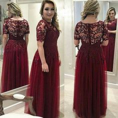 Sheath/Column Short Sleeves Lace Tulle Button See Through Custom Made 2016 Mother of Bride Dresses Prom Party Dresses, Homecoming Dresses, Bridesmaid Dresses, Bride Dresses, Gold Evening Dresses, Evening Gowns, Lace Back Wedding Dress, Plus Size Formal Dresses, Mothers Dresses