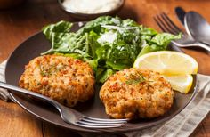 Imitation Crab Meat Crab Cake-  I'm gonna sub out the ingredients for clean ones and make this tonite!