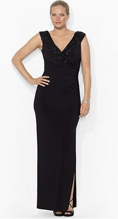 Mother of the bride dresses on pinterest mother of the for Black tie wedding dresses plus size