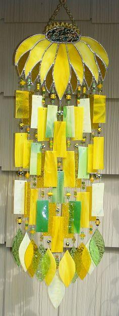 Yellow windchime/suncatcher