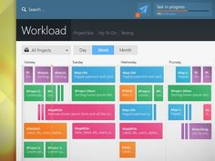 Weekly #Team #Schedule #Design | #ui #ux #layout #flat #scrum #time #management #web #mobile
