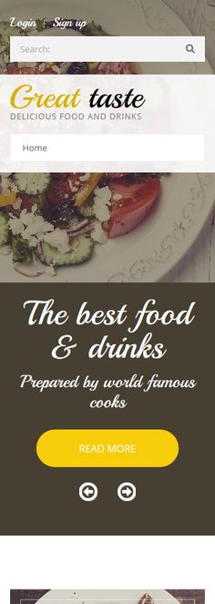 Food & Drink website inspirations at your coffee break? Browse for more Drupal #templates! // Regular price: $75 // Sources available: .PSD, .PHP #Food & Drink #Drupal