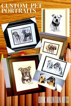 """💖 Gift Art this year.💐& 💝 are """"nice,"""" but Custom Artwork lasts FOREVER, is ALWAYS on display, and they will think of YOU everytime the look at it! Dark Mountains, Support Local, Mountain Art, Selling Art, Local Artists, Handmade Art, Pet Portraits, Art For Sale, Design Art"""