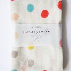 confetti dot towel
