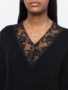 Pam Perks And Mini vampire teeth necklace