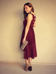 Cutout Chiffon 'Charlotte' Dress
