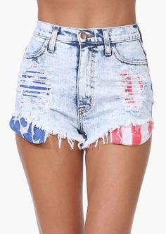 USA Denim Shorts