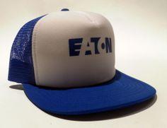 "★★  Vintage Original "" EATON - Axles and Brakes "" Mesh Trucker Snap Back Hat ★★ #Trucker"