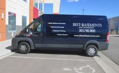 #vehiclegraphics #vehiclewraps #vehiclelettering #installationservices #vehiclegraphicsdesigns #SignaramaColorado #Signs #colorado Vehicle Lettering for Best Basements and Renovations Work Vehicle